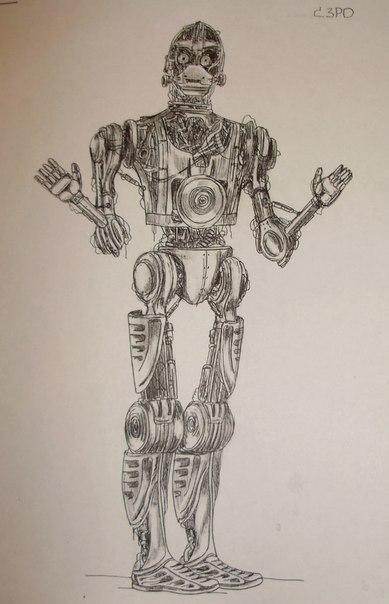 Эскиз C3PO голый