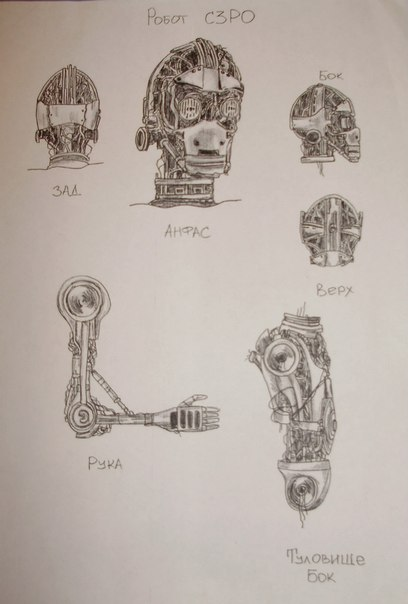 Эскиз C3PO сборка 2