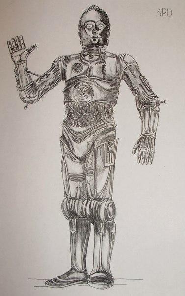 Эскиз C3PO одетый