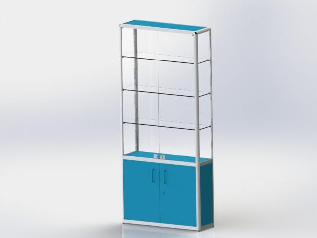 Шкаф витрина для магазина 2 дверцы